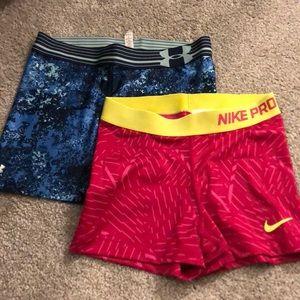 Nike compression shorts